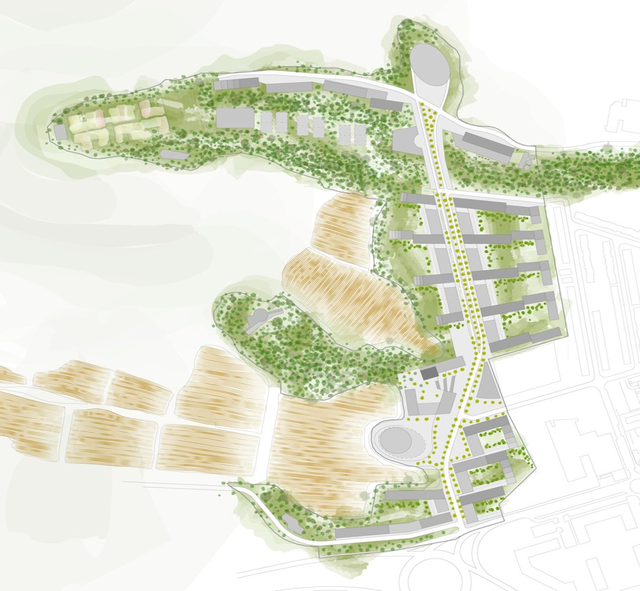 Ecobarrio Oeste zonas verdes
